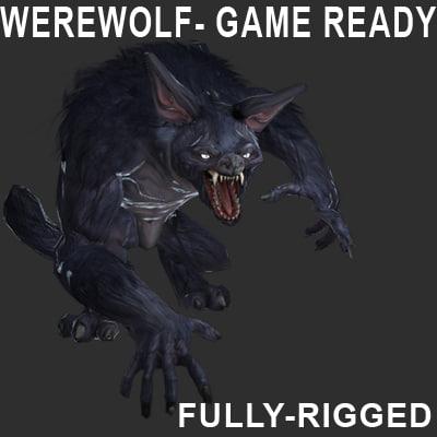 werewolf character 3d max
