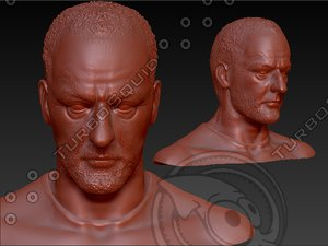 3d portrait jean reno model