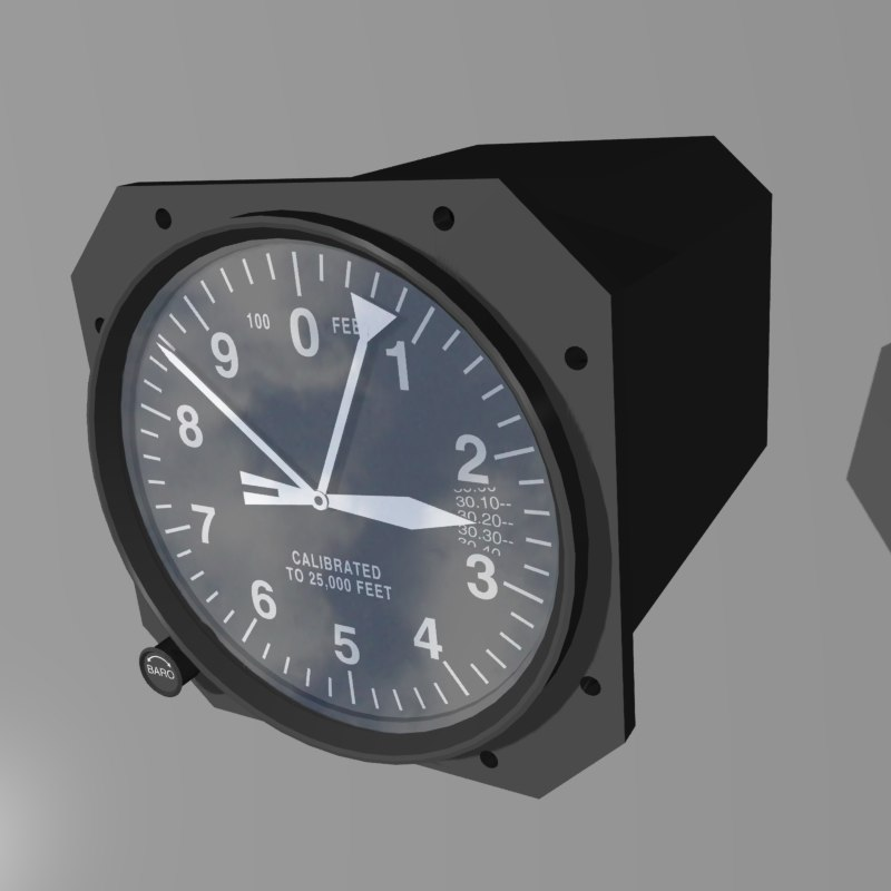 altitude indicator 3d model