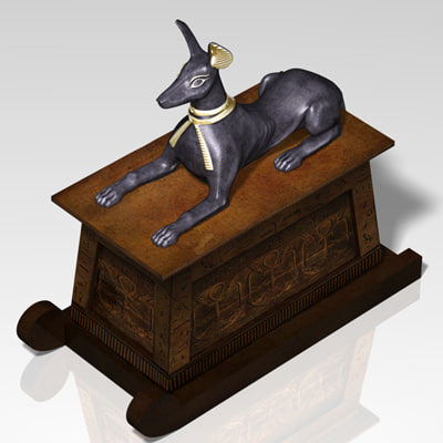 chest anubis 3d model