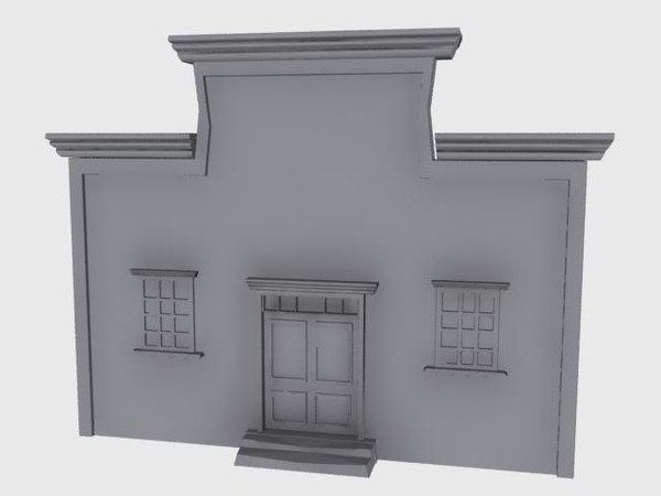 old western bank building 3d max