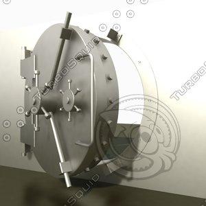 3d model bank vault door