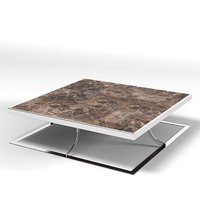 baxter modern contemporary table rectangular cofee cocktail marble metal iron chrome