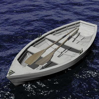 row boat 3d ma