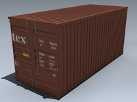 3d cargo container 20ft model
