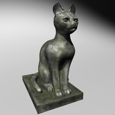 3ds ancient egyptian statue