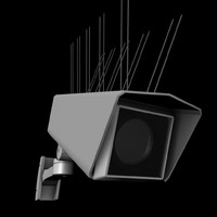 outdoor uk cctv camera 3d model