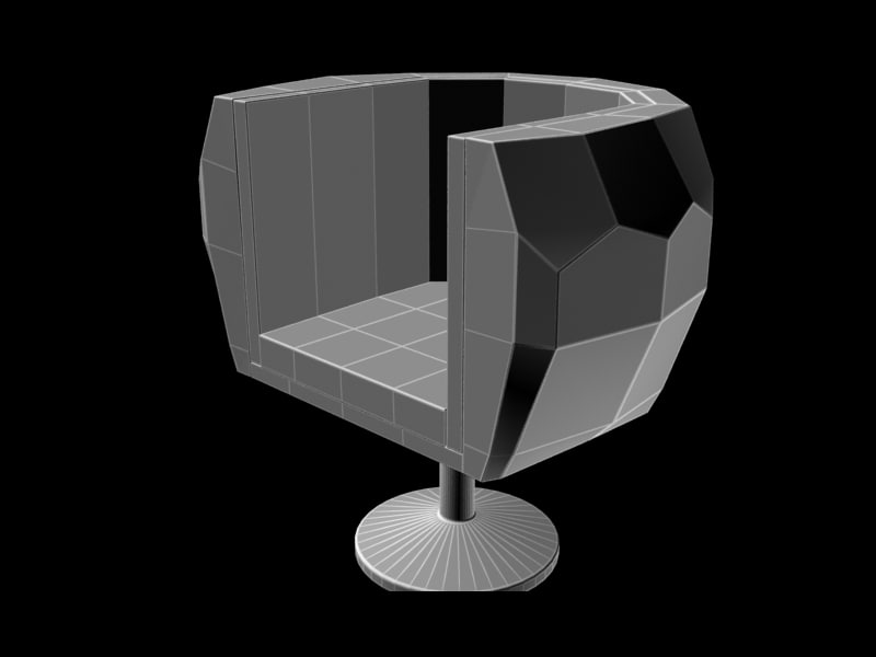 chair geometry design 3d max
