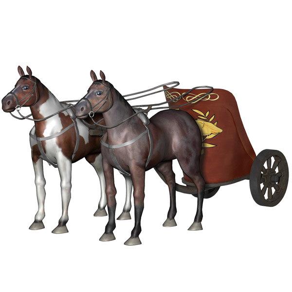 transport horses 3d model