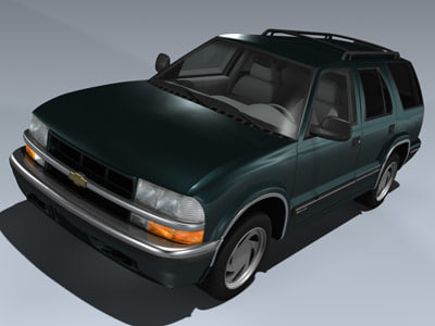 3d model chevy blazer 1998