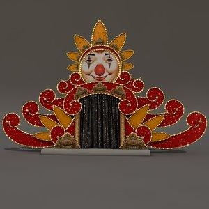 circus entrance 3d model