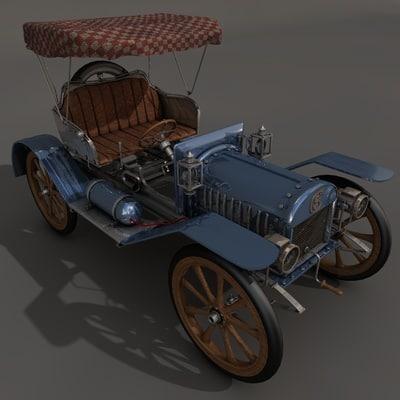 old car obj