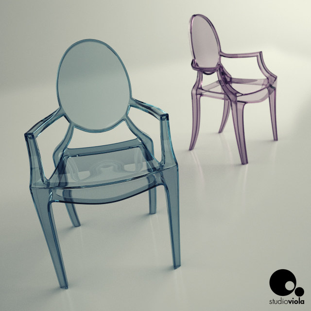 3ds max chair philippe starck
