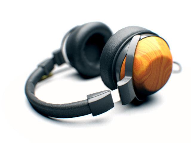 3d headphones wood