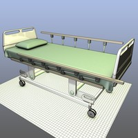 3ds hospital bed casters