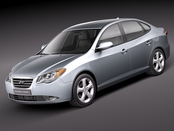 3ds max hyundai elantra 2010 sedan