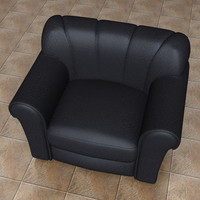 leather lounge chair 3d max