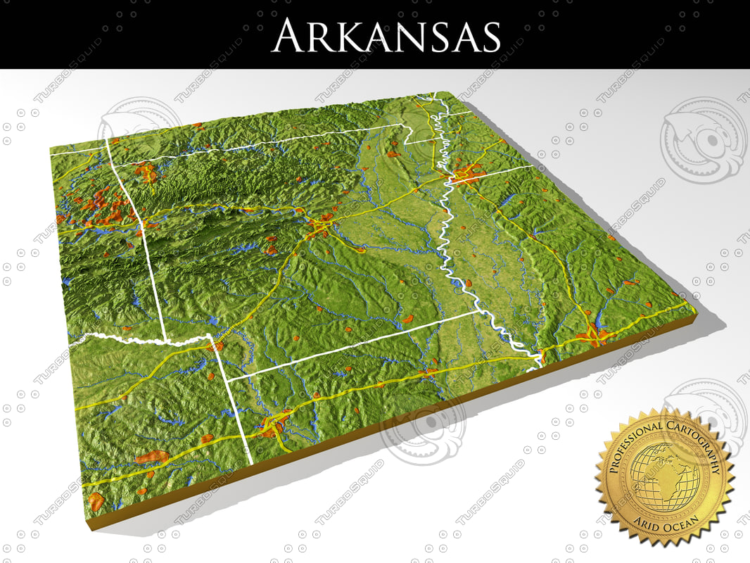 Model Relief Arkansas - Arkansas relief map