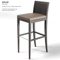 modernature dolce barstool 3d model