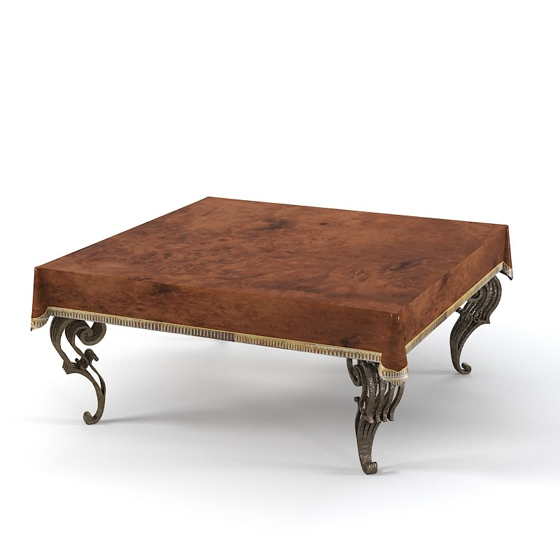 jumbo rectangular table 3d model