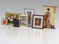 3D model of Picture Frames and artwork