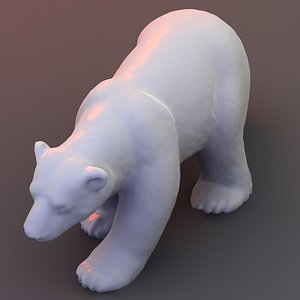3d scan polar bear model