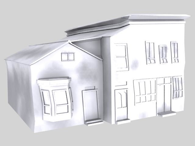 ghost building post office 3d model