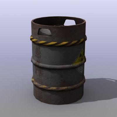 3d rusty beer barrel