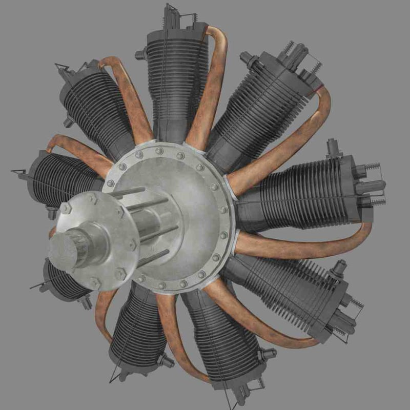 3d rotary engine rhone