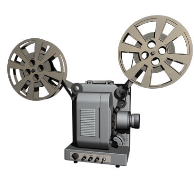 3d model of movie projector