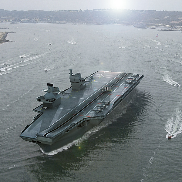 3d model of queen elizabeth class aircraft