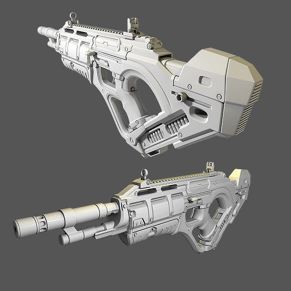3d custom rifle