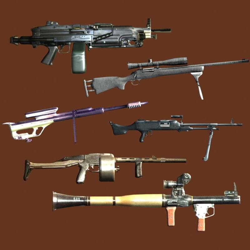 3ds max guns fn minimi