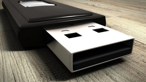 flash disk - sandisk 3d obj