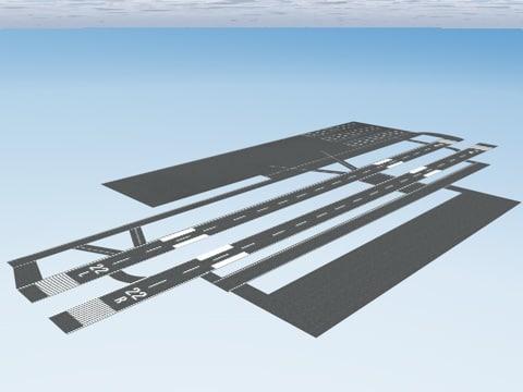 airport runway 3d model