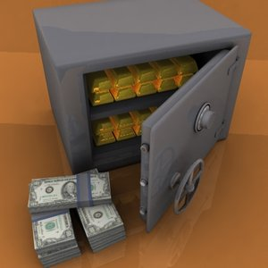 safe combination lock 3d model