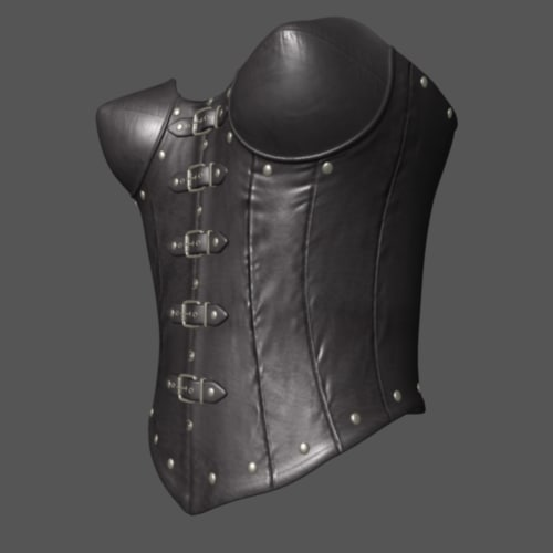 corset leather satin obj