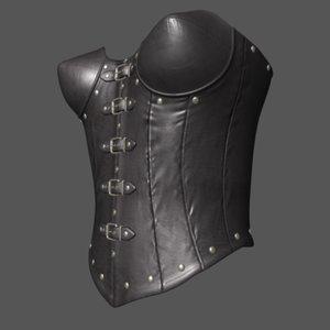 corset leather satin obj