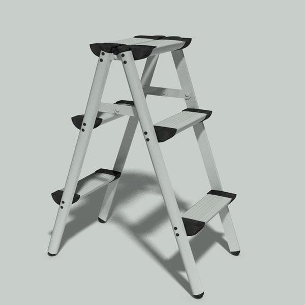 maya folding aluminium step ladder