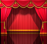 theatre curtains 3d c4d