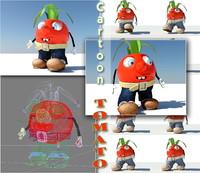 3ds max cartoon tomato