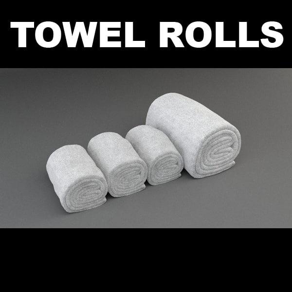 3d towel rolls model