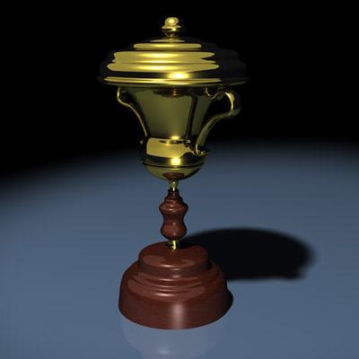 gold trophy 3d max