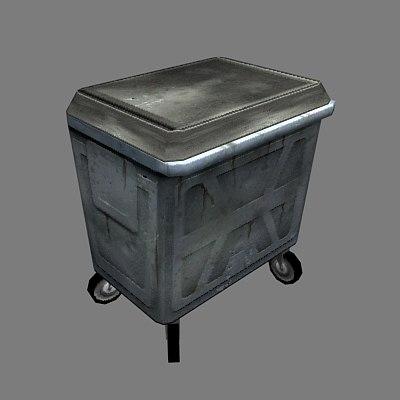 wheelie bin 3d max