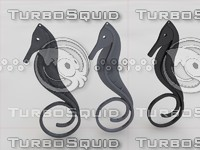 pendant sea horse 3d model