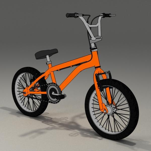 freestyle bike rendered toon 3d max