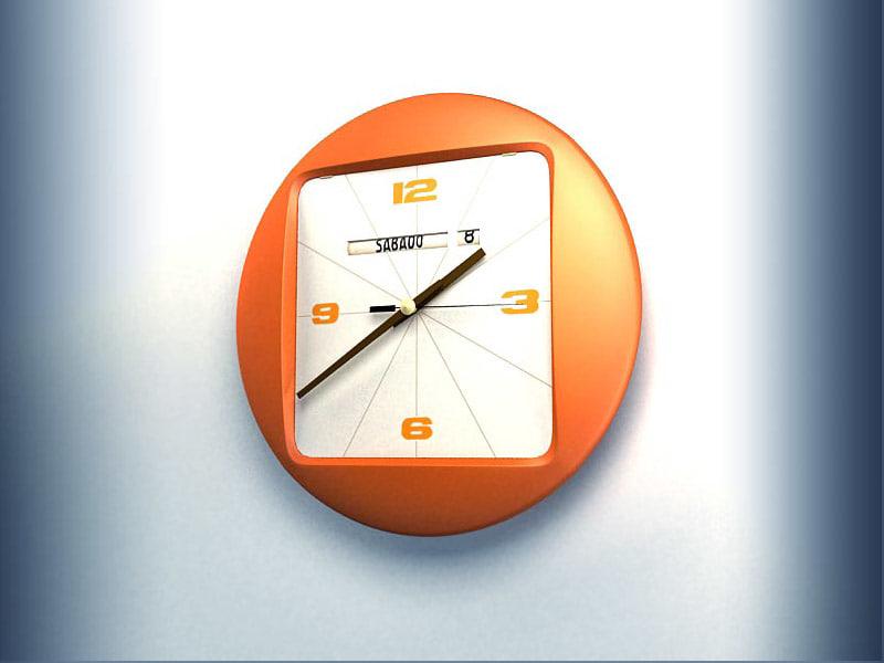 max orange clock