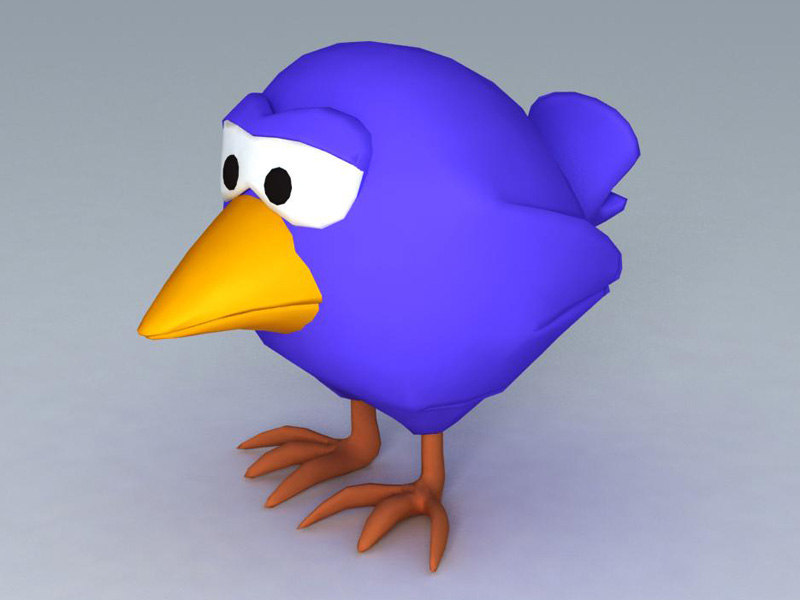 cartoon bird 3d model