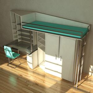 modern set furniture 3d max