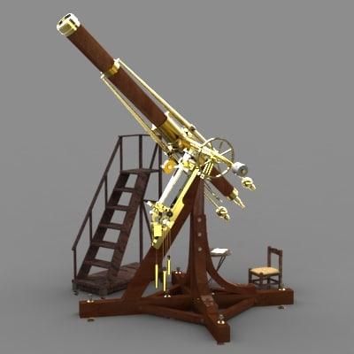 3d telescope fraunhofer circa 1826